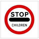 Prohibition of passing without stopping - Children